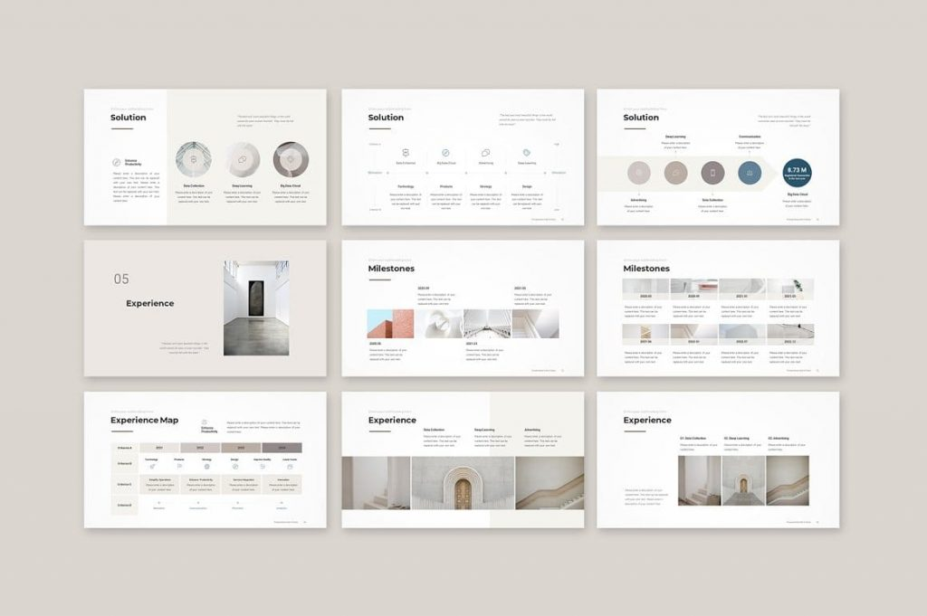 Experience Business Proposal Template slides.