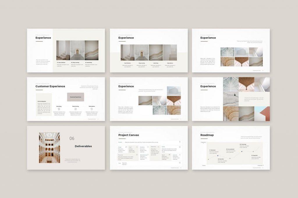 Slides eliverables Business Proposal Template.