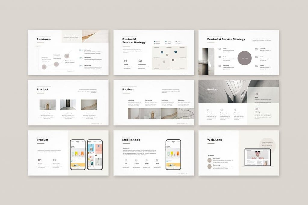 Slides Product Business Proposal Template.