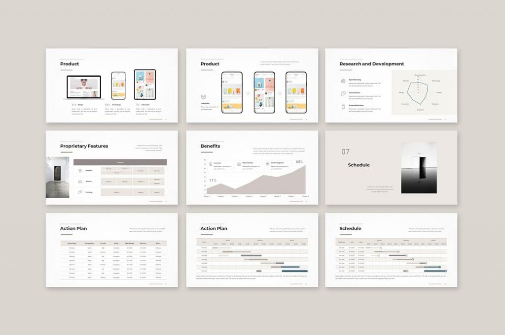 Slides Schedule Business Proposal Template.