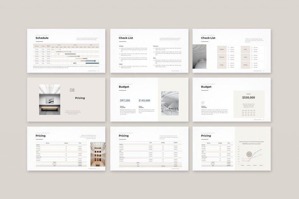 Slides Pricing Business Proposal Template.