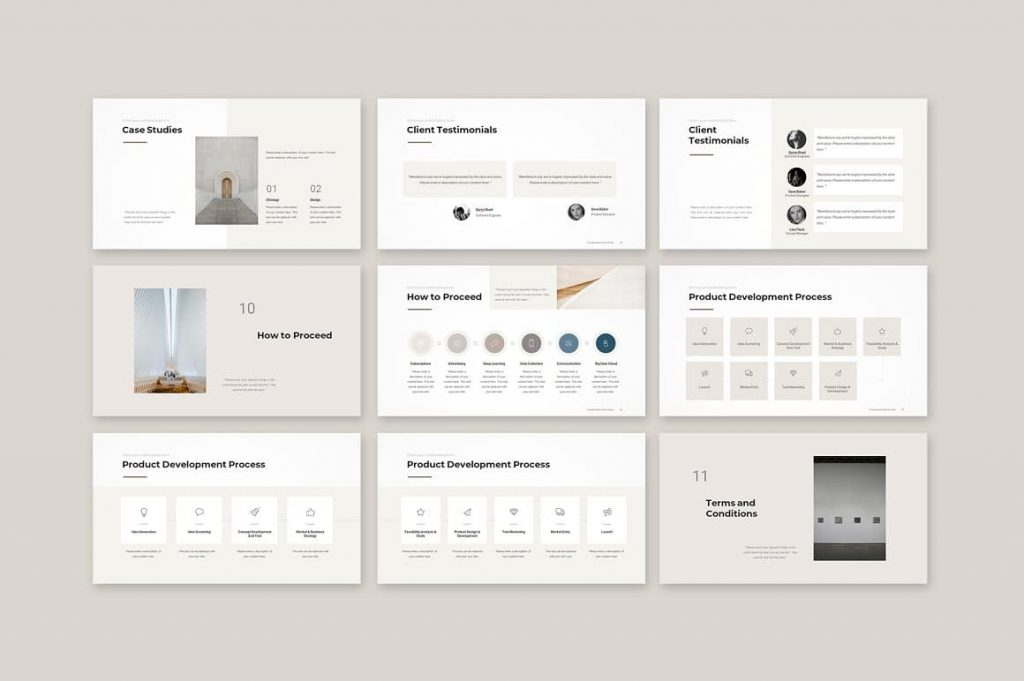 Slides How to Proceed Business Proposal Template.