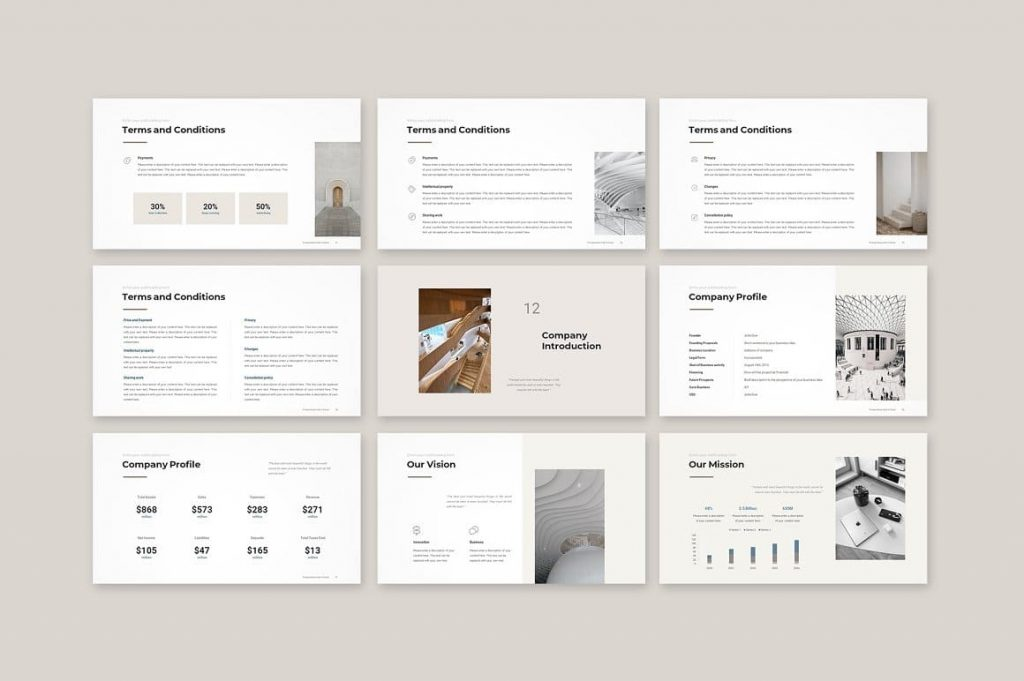 Company Introduction Business Proposal Template slides.