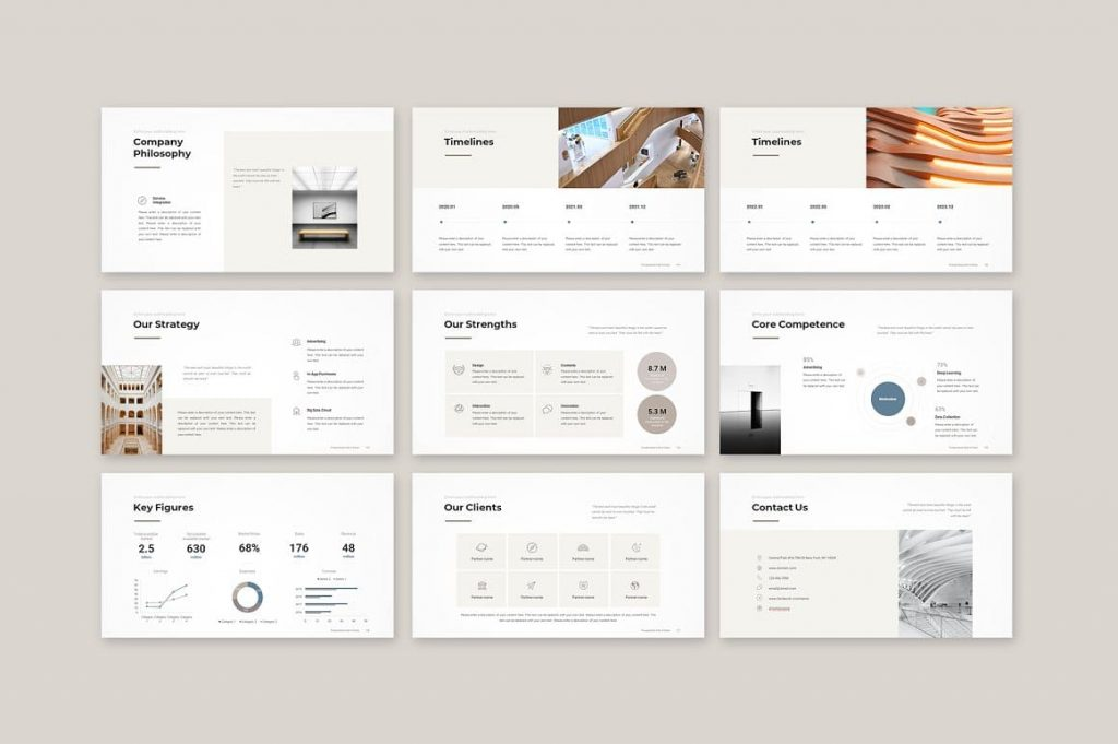 Slides Our Strategy Business Proposal Template.