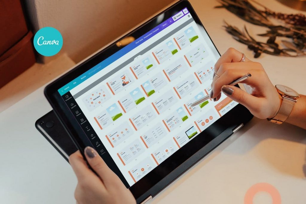 Tablet preview Light theme Pitch Deck & Presentation V3.0.