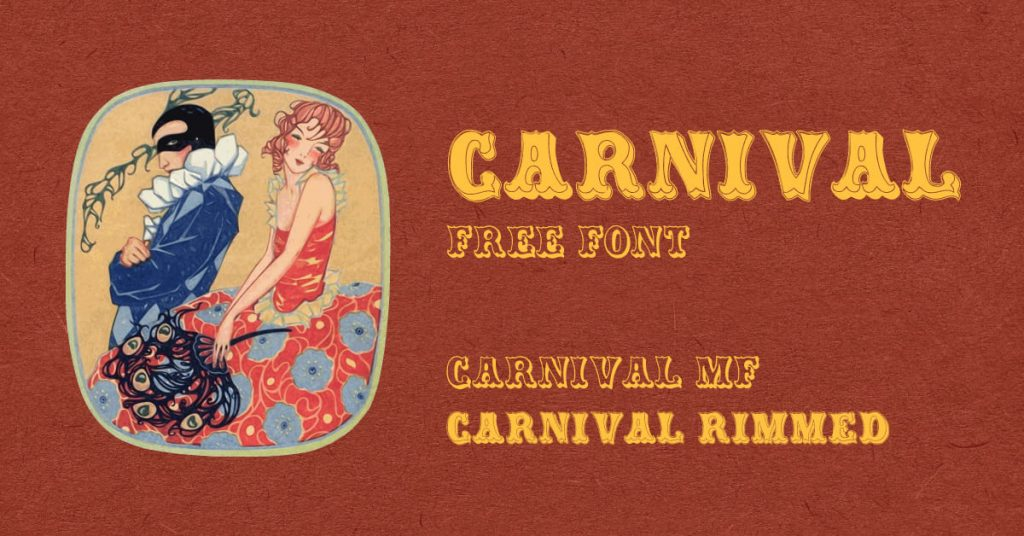 Carnival font free Facebook preview by MasterBundles.