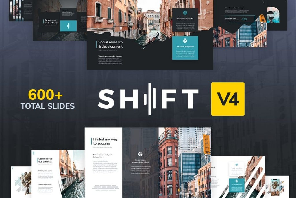 Cover Shift Modern Powerpoint Template.