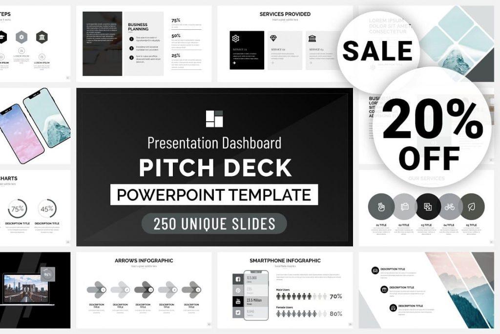 Pitch Deck cover - Presentation Dashboard.