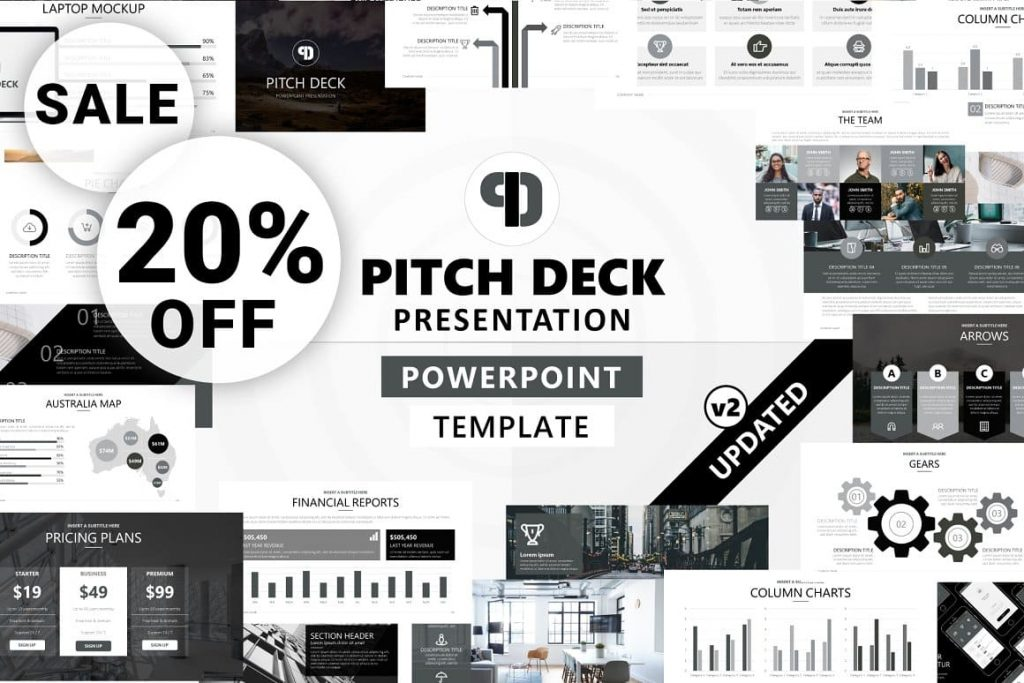 Cover for Pitch Deck - Powerpoint Presentation.
