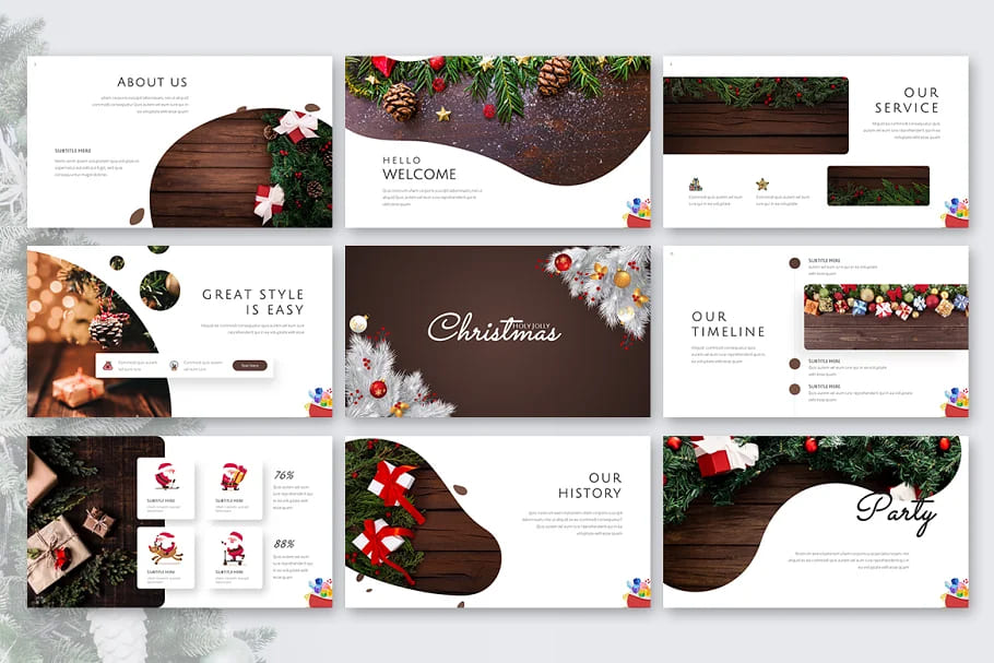 Holy Joly Christmas Template Slide Preview.