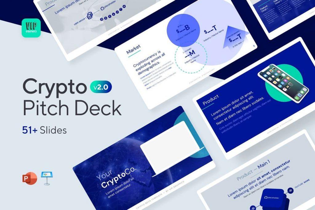 50+ Modern And Creative Slides Crypto Pitch Deck Presentation.