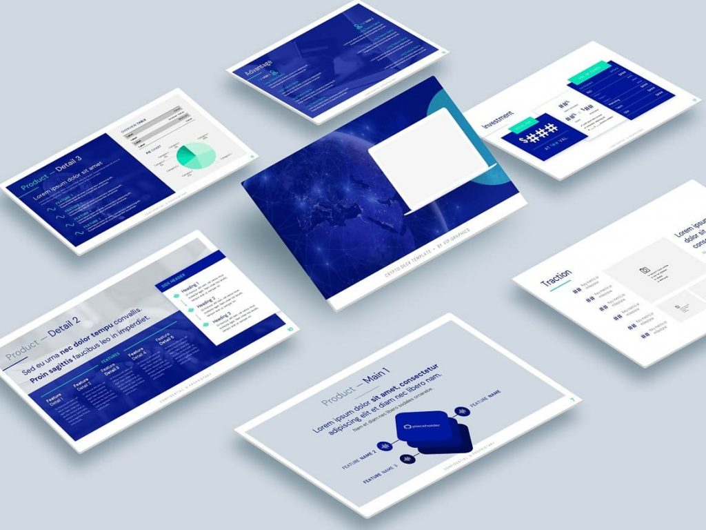 Compatible with PowerPoint & Keynote Crypto Pitch Deck Presentation.