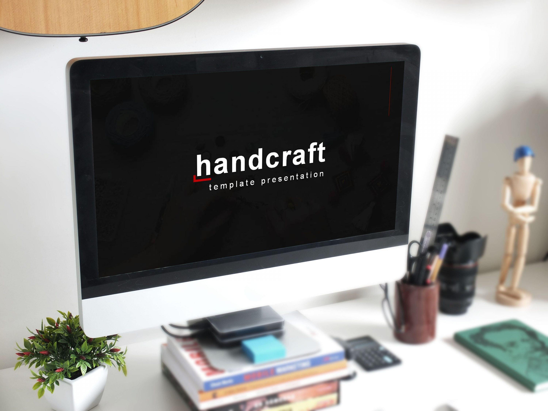 Handcraft Presentation: Powerpoint, Keynote, Google Slides MasterBundles desctop preview mockup image.