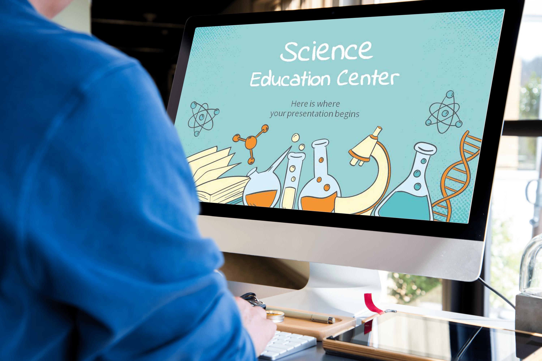 Free Science Education Center PowerPoint Template by MasterBundles desktop.