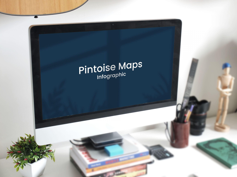 Maps Presentation: Powerpoint, Keynote, Google Slides by MasterBundles desctop preview mockup image.