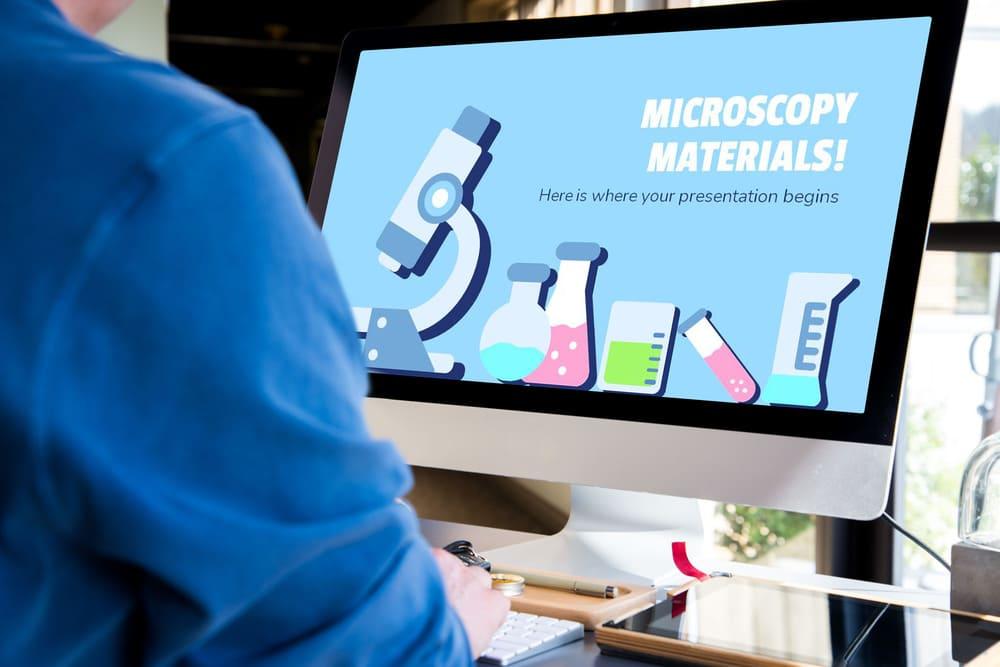 Desktop Mockup Microscoping Materials Presentation.