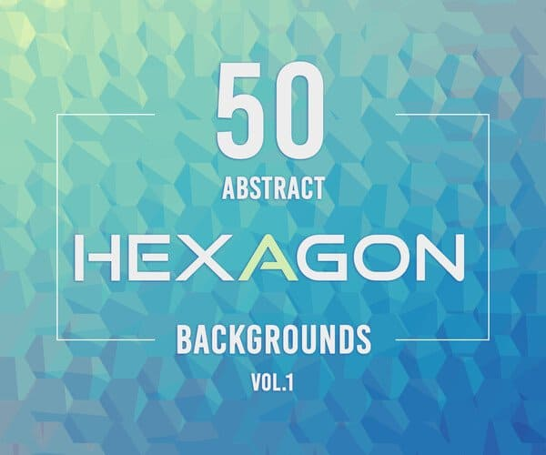 50 Abstract Hexagon Backgrounds.