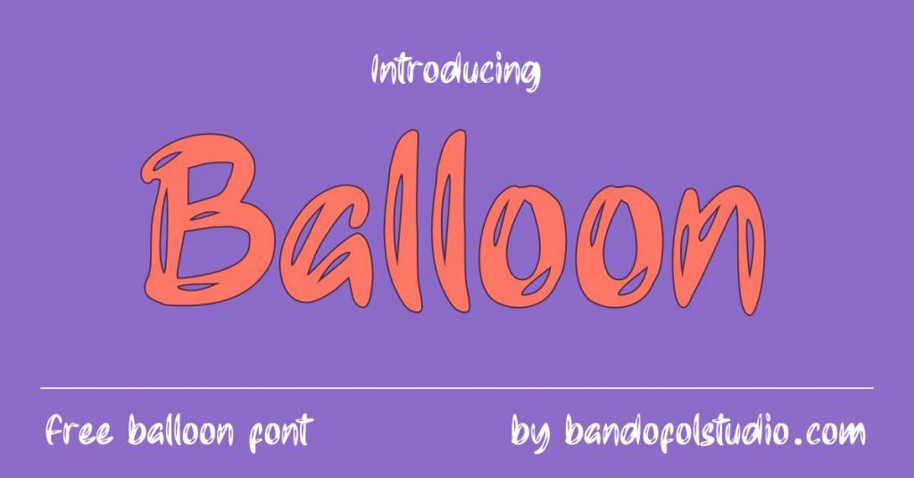 MasterBundles Free Balloon Font Facebook preview.