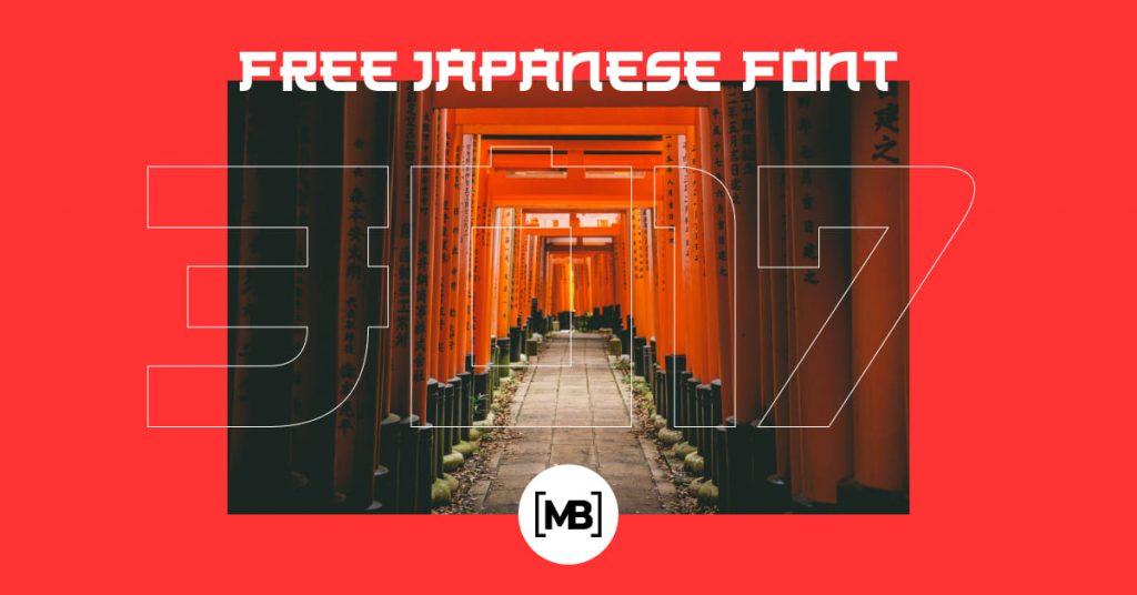 Free Japanese Font by MasterBundles Facebook Image.