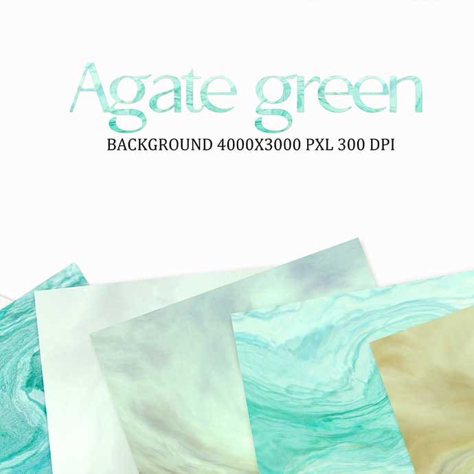 Preview of Agate green: 18 digital paper.