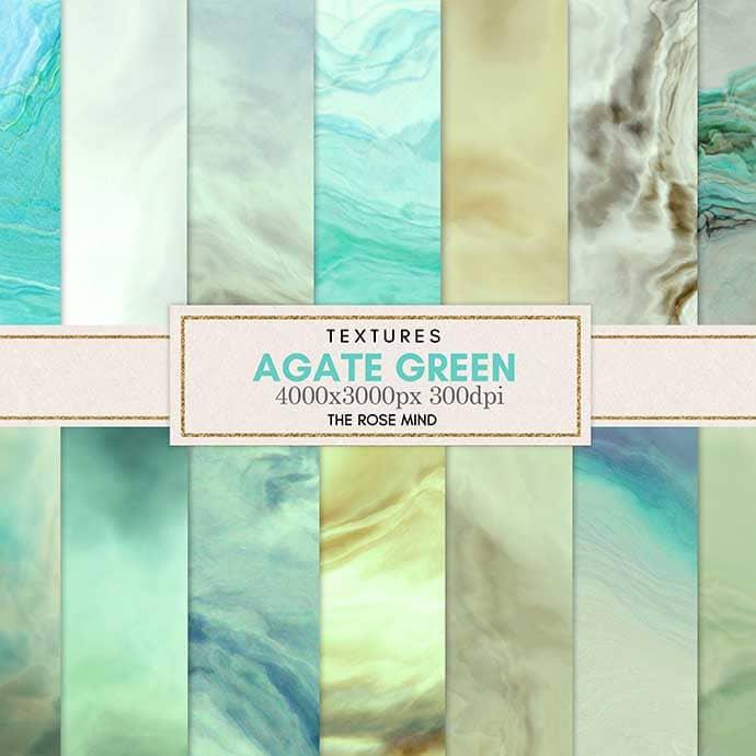 Agate green: 18 digital paper.