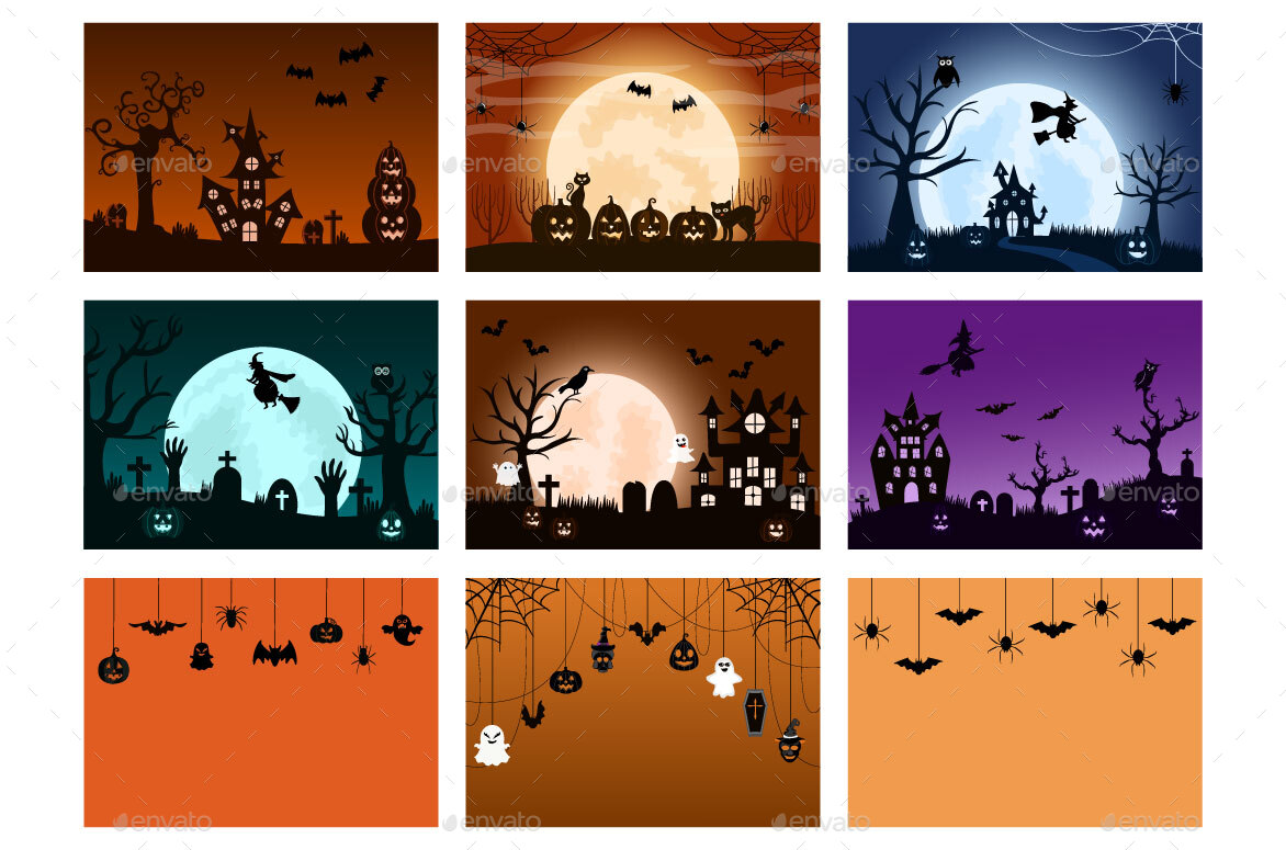 Halloween For Background, Banner, Wallpaper, Brochure and Add Your Design Style Template Features.