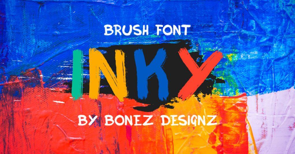 Ink free font by MasterBundles Facebook Collage Image.