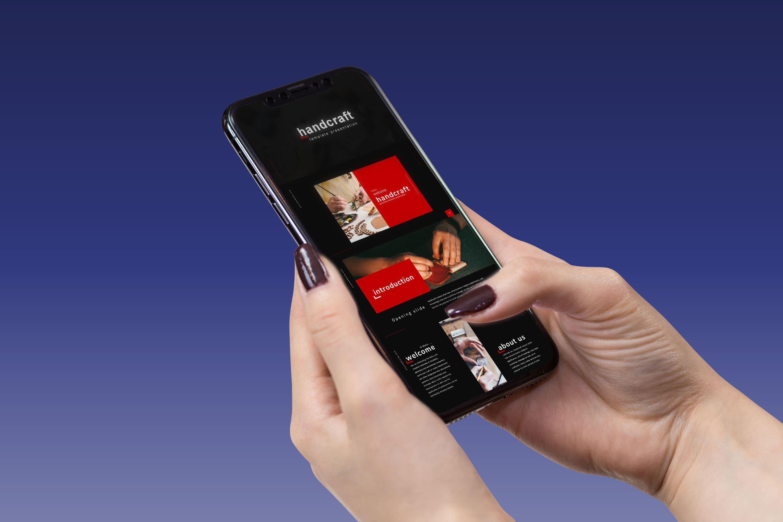 Handcraft Presentation: Powerpoint, Keynote, Google Slides MasterBundles mobile preview mockup image.
