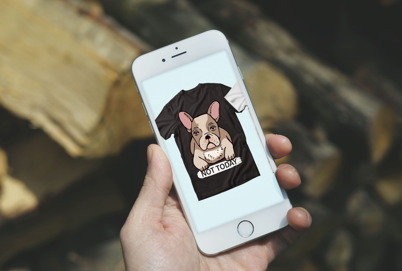 Trendy 20 Bulldog Quotes T-shirt Designs Bundle by MasterBundles mobile preview mockup image.