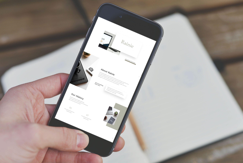 Advertising Presentation by MasterBundles mobile preview mockup image.