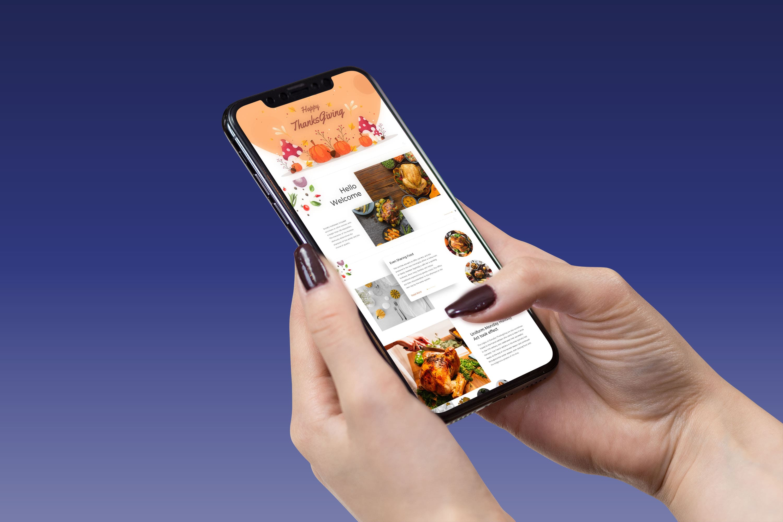 Thanksgiving Presentation: Powerpoint, Keynote, Google Slides by MasterBundles mobile preview mockup image.