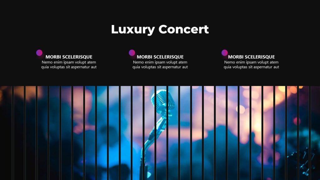 Luxury Concert Musical PowerPoint presentation.