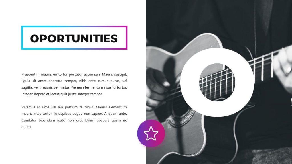 Team member. Musical PowerPoint presentation.