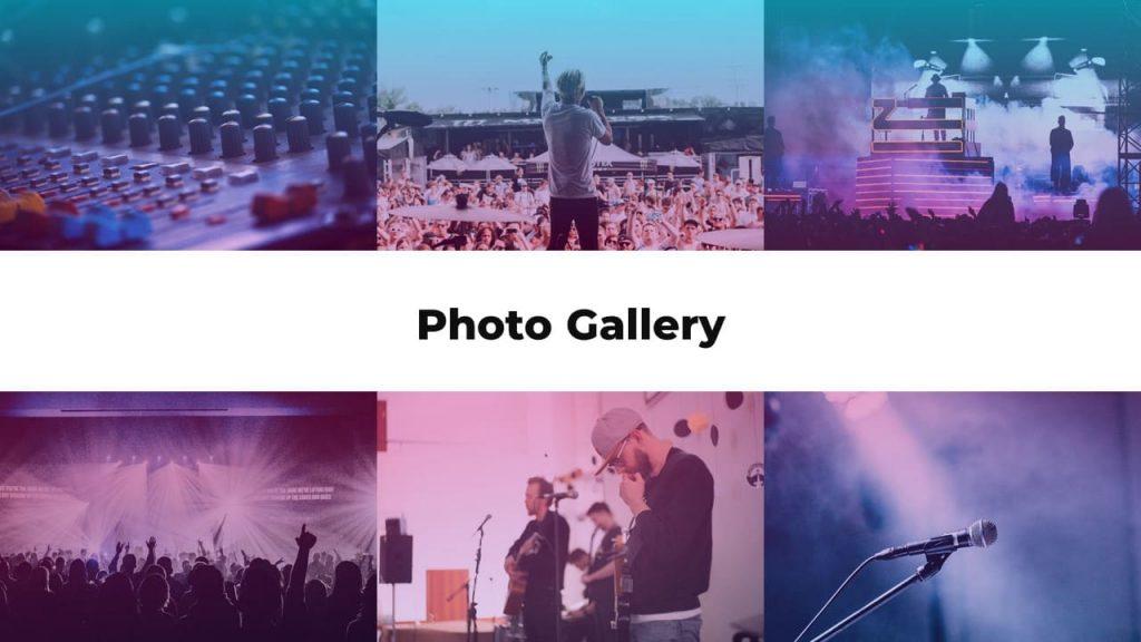 Photo gallery. Musical PowerPoint presentation.