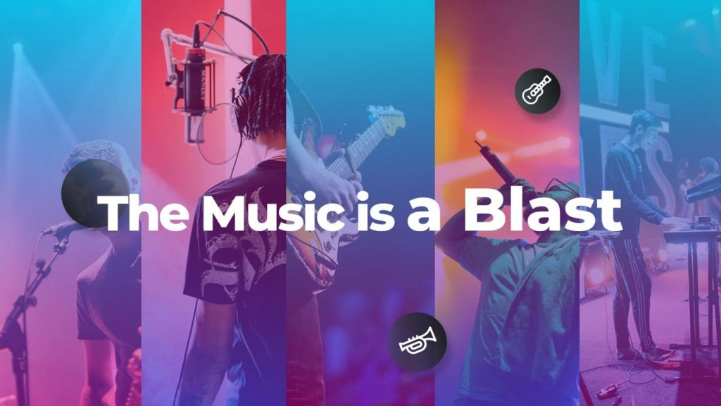 The Music is a blast. Musical PowerPoint presentation.