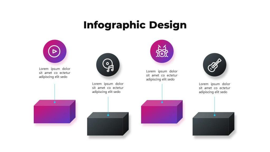 Infographic design. Musical PowerPoint presentation.