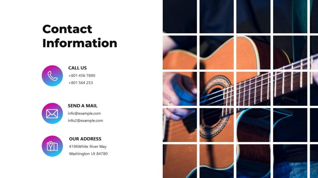 Contact Information. Musical PowerPoint presentation.
