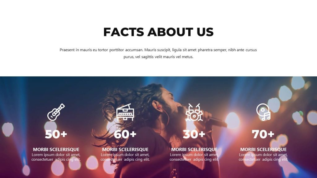 Facts About Us Musical PowerPoint Presentation.