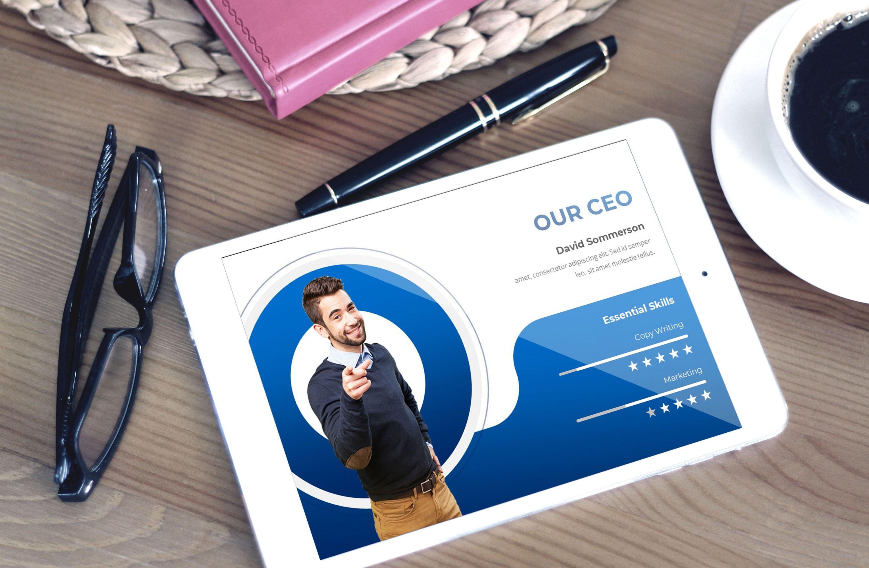 Business Presentationon by MasterBundles note preview mockup image.