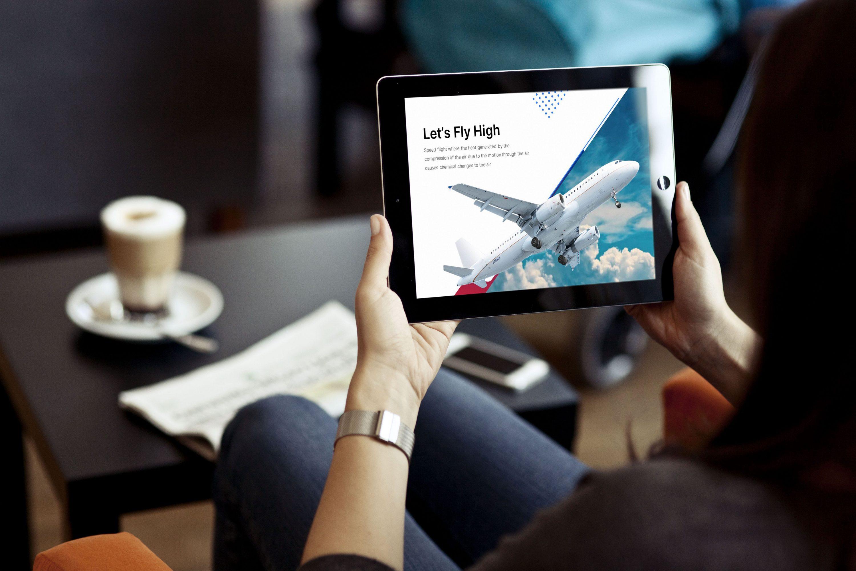 Aircraft Presentation: Powerpoint, Keynote, Google Slides MasterBundles note preview mockup image.