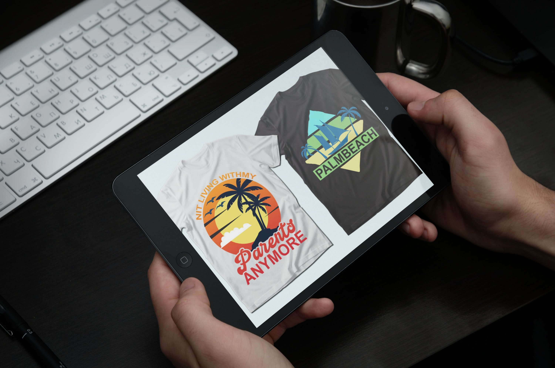 Summer Quotes T-shirt Designs Bundle by MasterBundles note preview mockup image.
