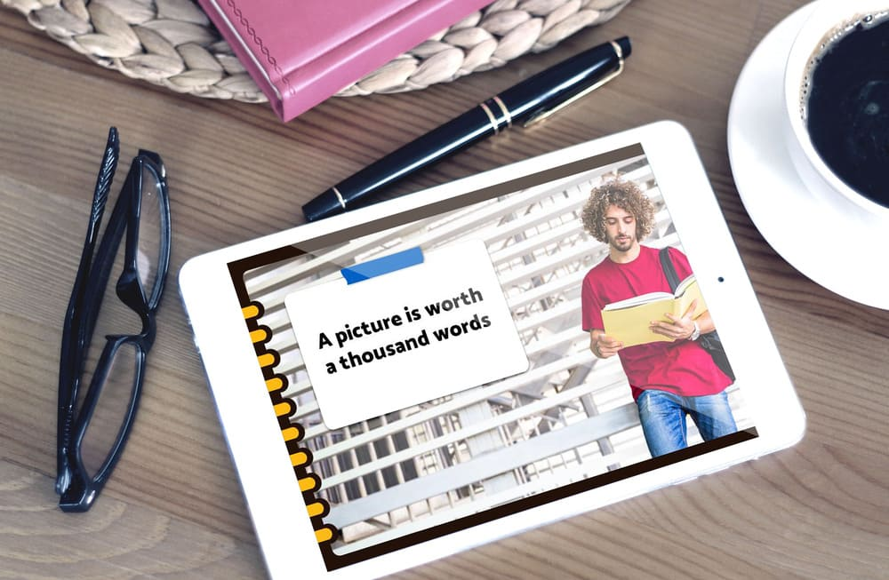 Note Mockup Writic Geometric Notebook Powerpoint Template.