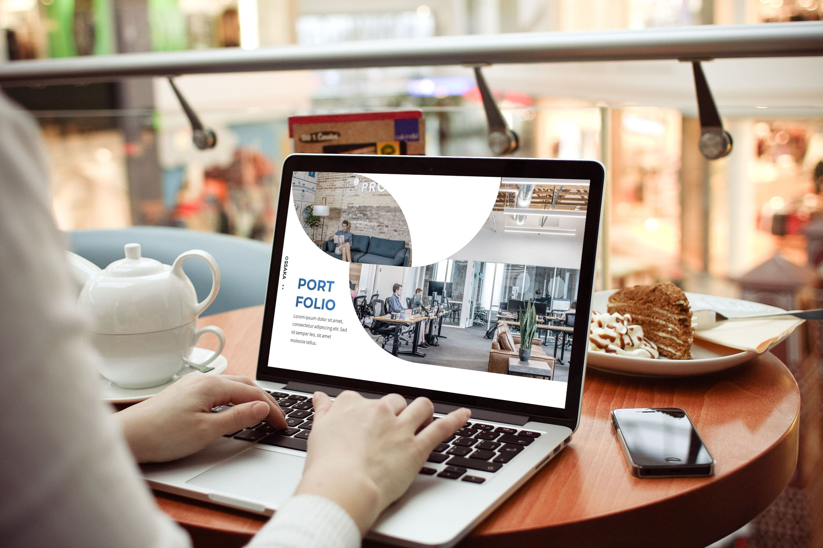 Business Presentationon by MasterBundles notebook preview mockup image.