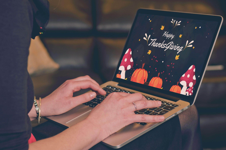 Thanksgiving Presentation: Powerpoint, Keynote, Google Slides by MasterBundles notebook preview mockup image.