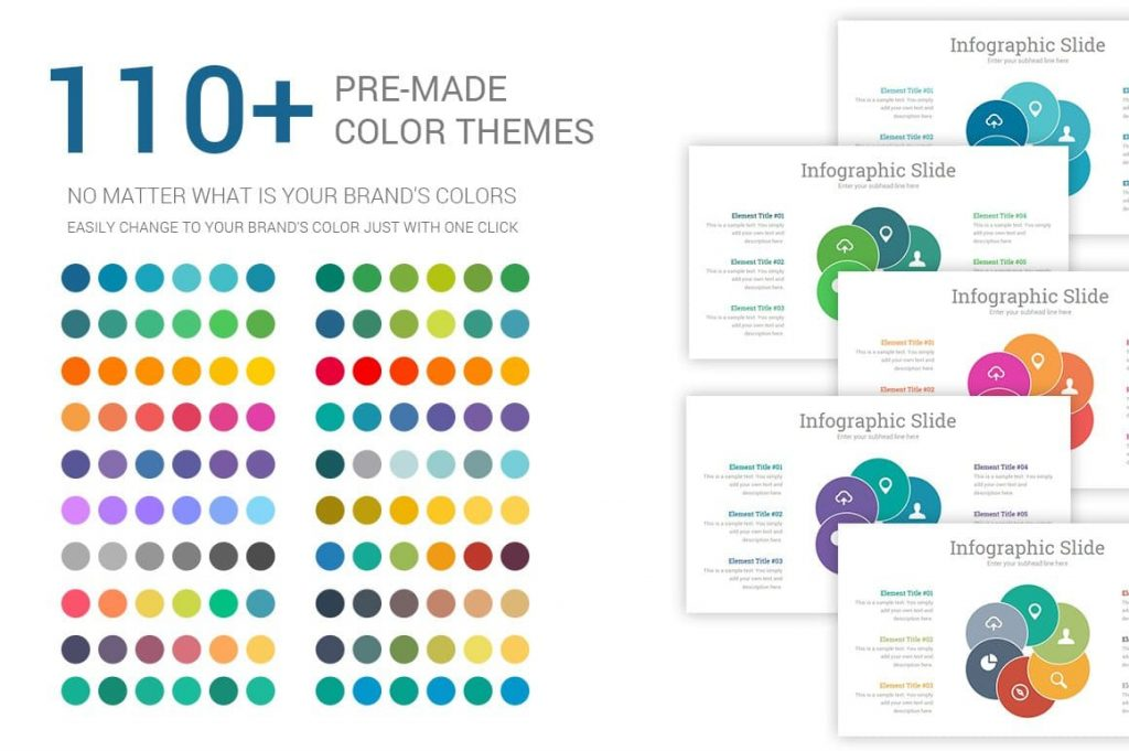 115 Stunning Premade Theme colors Investors PowerPoint Pitch Decks.