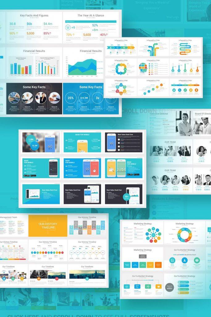 Investors PowerPoint Pitch Decks by MasterBundles Pinterest Collage Image.
