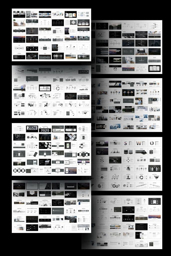 Pitch Deck - Presentation Dashboard by MasterBundles Pinterest Collage Image.