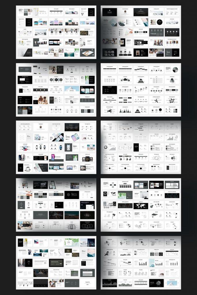 Pitch Deck - Powerpoint Presentation by MasterBundles Pinterest Collage Image.