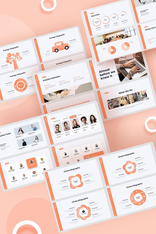 Pitch Deck & Presentation V3.0 by MasterBundles Pinterest Collage Image.