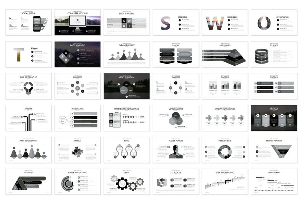 Contents for Pitch Deck Preview - Powerpoint Presentation.
